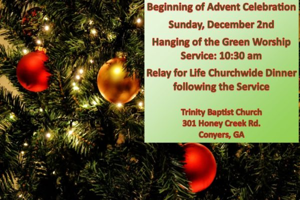 Start of Advent – Hanging of the Green