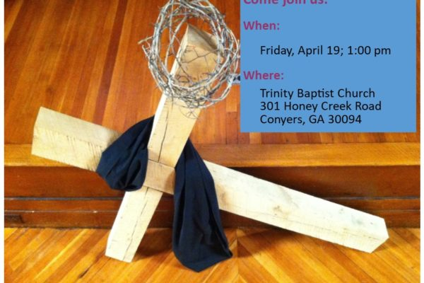 Good Friday Service with Communion: April 19, 1:00 PM